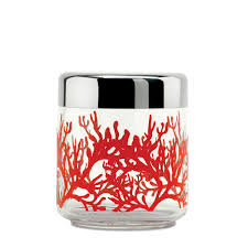 alessi mediterraneo kitchen box 75ml red storage jar