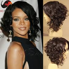 short curly bob wig rihanna curly bob wigs lace front human hair wigs for black women 12