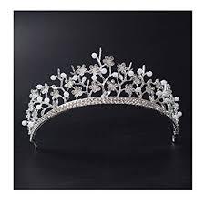 wedding tiaras ff silver pearl headpiece wedding tiaras crowns for