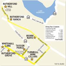 Napa Wine Map Rutherford Oakville Wine Country This Week Magazine Wineries