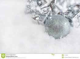 silver christmas greeting card silver christmas decorations stock photo image