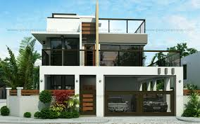 modern two house plans ester four bedroom two modern house design eplans