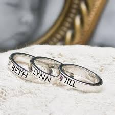 stacking name rings 25 best name rings ideas on stackable name rings