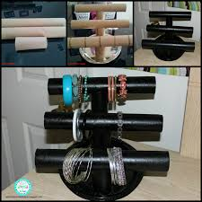 diy paper towel roll jewelry holder pvc tube paper towel rolls