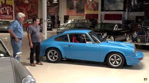 chrome porsche 911 jay leno appreciates pair of 1970s porsche 911 restomods
