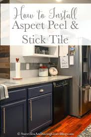 stick on subway tile backsplash kitchen how to install aspect peel
