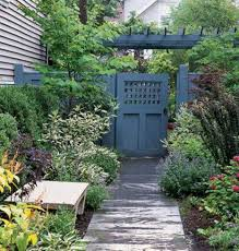 painted lattice wooden gate designs with arbor backyard wooden