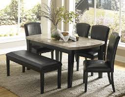 Dining Room Table And Bench Set by Kitchen Marvelous Dining Bench With Back Black Kitchen Table Set