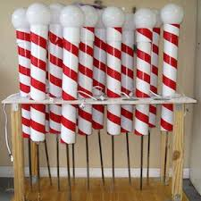 battery operated candy cane lights 100 best outdoor diy christmas decorations prudent penny pincher
