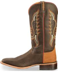 light colored cowgirl boots old west men s light brown and red cowboy boots square toe sheplers