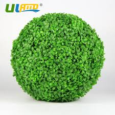 Artificial Boxwood Topiary Trees Uland Artificial Boxwood Ball Plastic Plants Grass Leaves Kissing
