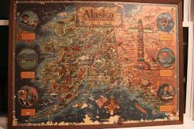 Map Alaska Alaska Old Map I Found Rotting In The Back Warehouse At Our
