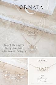 Personalized Sterling Silver Necklace Family Of Five Personalized Sterling Silver Necklace U2013 Ornata