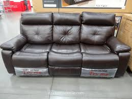 Power Leather Reclining Sofa Spectra Matterhorn Leather Power Motion Sofa Dazzling Costco