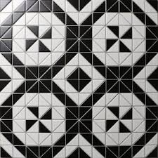 chino hill twist square 2 triangle geometric mosaic floor tiles