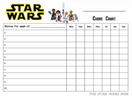star wars mom lego star wars free printable chores chart