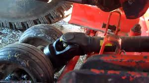 kubota b2400 cutting deck removal youtube