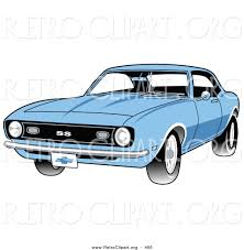 vintage cars clipart retro clipart of a light blue 1968 chevrolet ss camaro muscle car