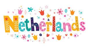 netherlands holland decorative lettering stock vector image