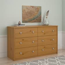 Belmont Home Decor by Essential Home Belmont 6 Drawer Dresser Pine