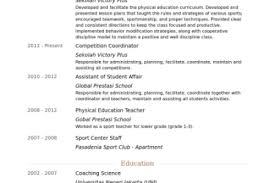 Physical Education Teacher Resume Sample by Physical Education Teacher Resume Sample Reentrycorps