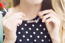Baby Name Jewelry Personalised Handmade Name Necklace By Anna Lou Of London
