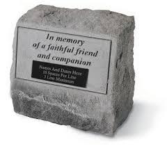 pet memorial garden stones garden pet urn memorial in memory of a faithful friend