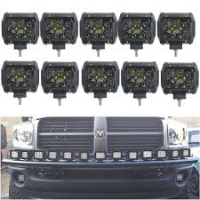 led work lights for trucks 10x 18w 4inch led work light atv off road 4wd boat ute jeep suv
