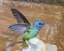 Edible Cake Decorating Paper Edible Hummingbirds 3 D Triple Sided Wafer Paper Toppers For