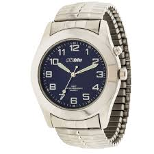 metal bracelet watches images Globlu mens silvertone expansion analog watch walmart canada jpg