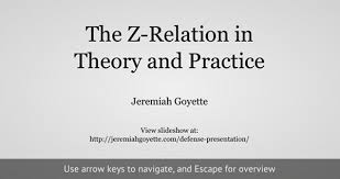 Jeremiah Goyette Included within the slideshow are some examples that exploit my plot pc set js script to demonstrate how the z relation works