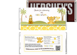 jungle baby shower invite simba lion king baby shower candy bar wrappers for party favors