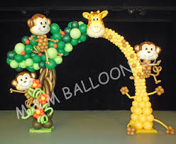 seattle balloon delivery jungle theme balloon arch m m balloon co of seattle arcos