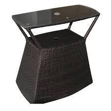 Umbrella Side Table Wicker U0026 Ratan Viking Casual Furniture