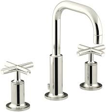 Gooseneck Faucet Kitchen Kohler K 14406 3 Cp Purist Widespread Lavatory Faucet With Low