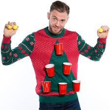 ugliest sweater cheer pong sweater by tipsy elves retrofestive ca