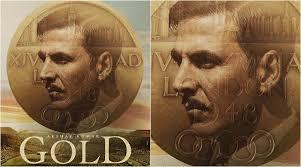 new gold poster akshay kumar looks golden but where is mouni roy