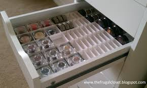 the frugal closet the ikea alex storage and handmade dividers for