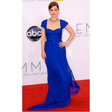 jane levy sapphire blue formal prom dress the 64th annual emmy