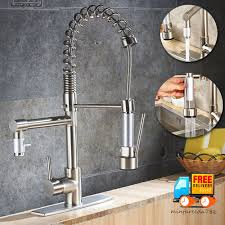 Rozin Led Light Spray Kitchen by Brushed Nickel Kitchen Sink Faucet Pull Out Down Sprayer Mixer Tap
