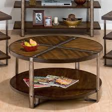 distressed metal coffee table round distressed coffee table cole papers design rustic