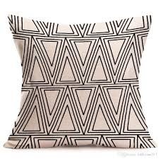 Factory Direct Home Decor Cheap Pillow Cushion Cover Buy by Halloween Christmas Black White Pillowcase Geometry Cushion Covers