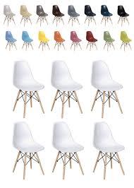 chaise pas cher lot de 6 lot 6 chaises dsw couleurs au choix 519 chaises