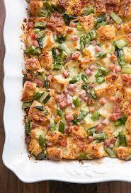 egg strata casserole ham and asparagus strata recipe simplyrecipes com