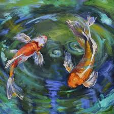 koi swirl painting koi swirl fine art print donna tuten i