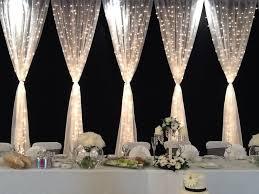 wedding backdrop tulle tulle and lights wedding decor wedding corners