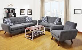 Sofa Mid Century Modern by Mid Century Modern Gray Sofa U0026 Loveseat Living Room Set Orange