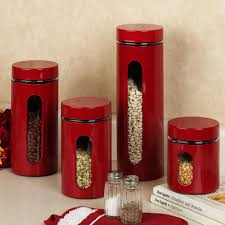 black canisters for kitchen red canister set for kitchen 19733