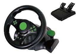 gaming steering wheel kabalo gaming vibration racing steering wheel 23cm and pedals