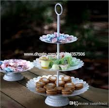 tier stand 2018 vintage white 3 tier iron wedding cake stand european metal
